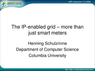 The IP-enabled grid – more than just smart meters