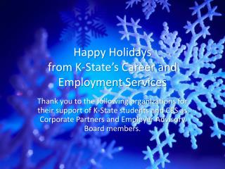 Happy Holidays from K-State's Career and Employment Services