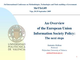3rd International Conference on Methodologies, Technologies and Tools enabling e-Government