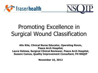 Promoting Excellence in Surgical Wound Classification