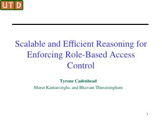 Scalable and Efficient Reasoning for Enforcing Role-Based Access Control