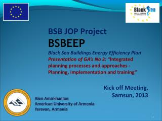BSB JOP Project  BSBEEP Black Sea Buildings Energy Efficiency Plan