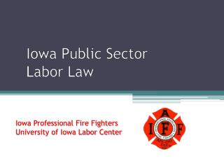 Iowa Public Sector Labor Law