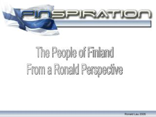 The People of Finland From a Ronald Perspective