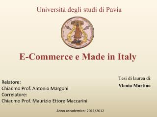 E-Commerce e Made in Italy