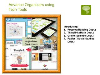 Advance Organizers using Tech Tools