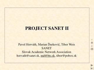 PROJECT SANET II