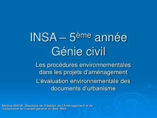 INSA – 5 ème  année Génie civil