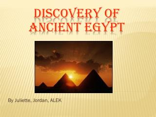 Discovery of ancient Egypt