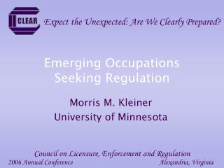 Emerging Occupations Seeking Regulation