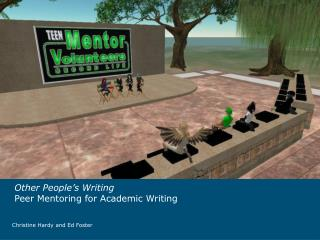 Other People's Writing Peer Mentoring for Academic Writing