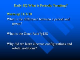 Daily EQ:What is Periodic Trending?