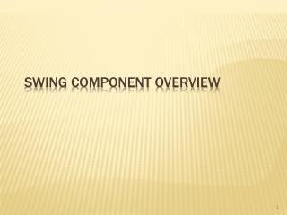 Swing Component Overview
