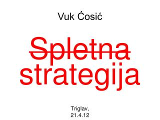 Spletna strategija