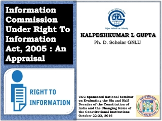 The Right to Information Act 2005   Shailesh Gandhi