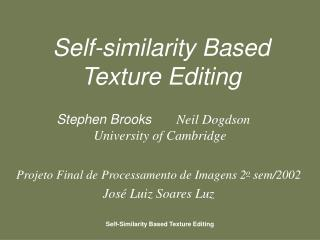 Self-similarity Based Texture Editing