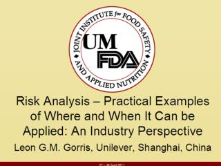 Introduction to Unilever Risk Analysis driving modern  food safety management