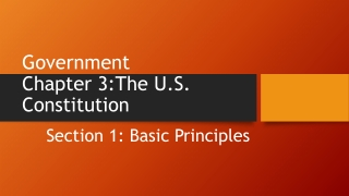Chapter 3- The U.S. Constitution