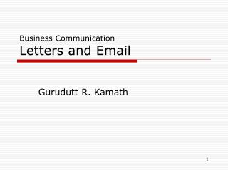 Business Communication Letters and Email