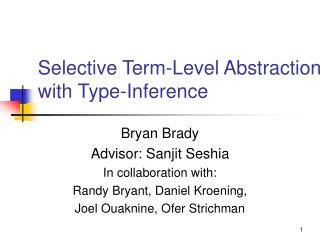Selective Term-Level Abstraction with Type-Inference