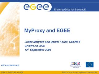 MyProxy and EGEE