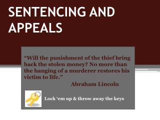 SENTENCING AND APPEALS