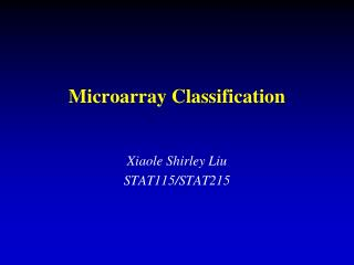 Microarray Classification