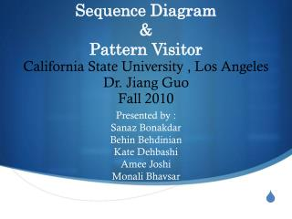 Sequence Diagram & Pattern Visitor