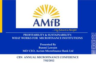 PROFITABILITY & SUSTAINABILITY: