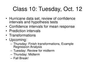 Class 10: Tuesday, Oct. 12