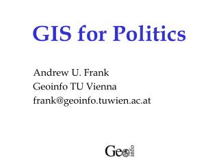 GIS for Politics