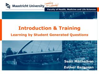 Introduction & Training Learning by Student Generated Questions