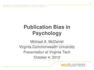 Publication Bias in Psychology