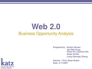 Web 2.0 Business Opportunity Analysis