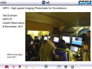 HIPO - High-speed Imaging Photometer for Occultations Ted Dunham HIPO PI Lowell Observatory