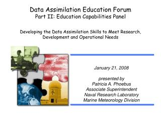 Data Assimilation Education Forum Part II: Education Capabilities Panel