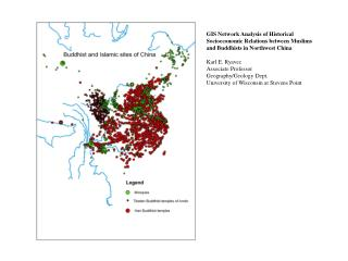 Distribution of Mosques Across Core and Peripheral Zones of Qing Period China