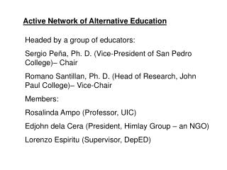 Active Network of Alternative Education