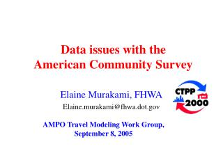 Data issues with the  American Community Survey