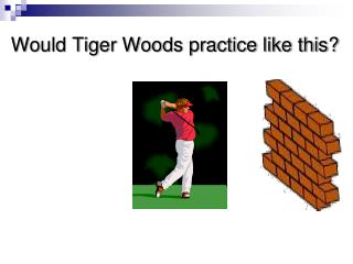 Would Tiger Woods practice like this?