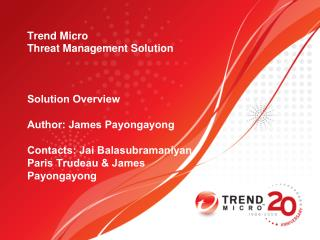 Trend Micro  Threat Management Solution