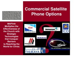 Commercial Satellite Phone Options