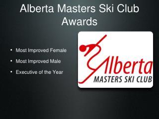 Alberta Masters Ski Club Awards