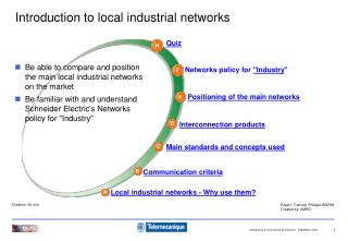 Introduction to local industrial networks
