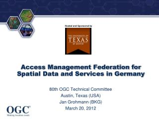 Access Management Federation for Spatial Data and Services in Germany
