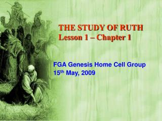 THE STUDY OF RUTH Lesson 1 – Chapter 1