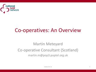 Co-operatives: An Overview