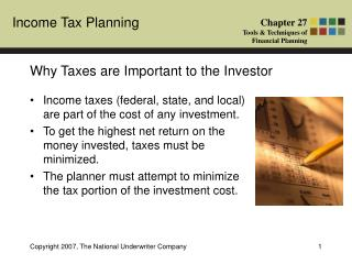Why Taxes are Important to the Investor