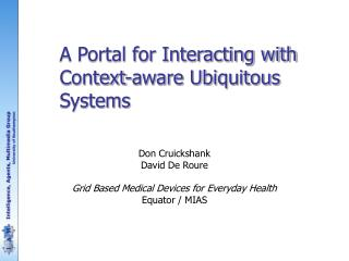 A Portal for Interacting with Context-aware Ubiquitous Systems