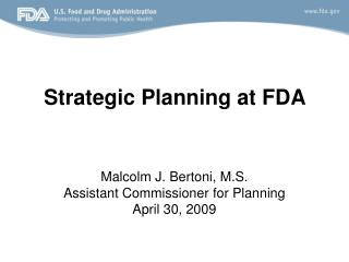 Strategic Planning at FDA